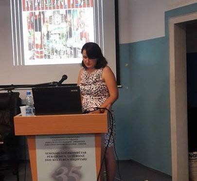 Мандрица на международен семинар по албански език